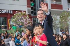 Eric Garcetti, de Burgemeester van Los Angeles Stock Foto