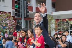 Eric Garcetti, de Burgemeester van Los Angeles Stock Fotografie