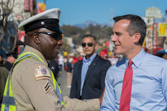 Eric Garcetti, Los Angeles Mayor, at the 115th Annual Golden Dra Stock Images