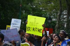 Eric Garner protest in New York City stock images