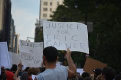 Eric Garner protest in New York City stock photo