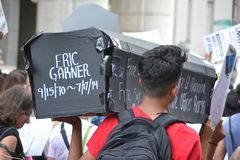 Eric Garner protest in New York City royalty free stock photos