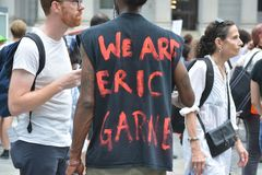 Eric Garner protest in New York City royalty free stock photography