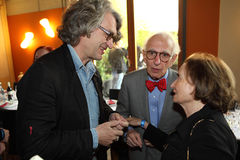 Eric Kandel och Wim Wenders Royaltyfri Fotografi