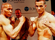 Eric Mitchell and Elvin Ayala Weigh-In Stock Photo