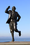 Eric Morecambe statue on Morecambe promenade. Stock Photography