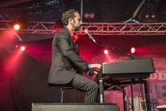 Eric Ranzoni plays keyboards Royalty Free Stock Images
