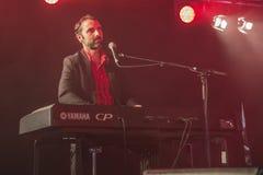 Eric Ranzoni plays keyboards Royalty Free Stock Image