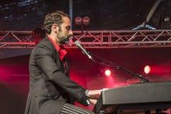 Eric Ranzoni plays keyboards Royalty Free Stock Photo