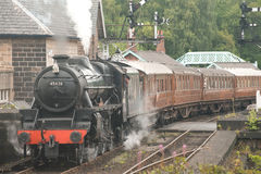 Eric Treacy  leaving Grosmont Station. Stock Photo