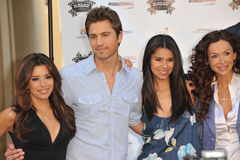 Eric Winter, Eva Longoria, Roselyn Sanchez, Sofia Milos Royalty Free Stock Photos