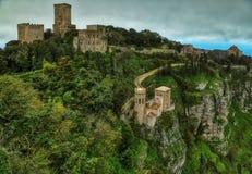Erice и гора замков стоковое фото rf