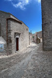 Erice. Narrow street in erice in sicily Royalty Free Stock Photos