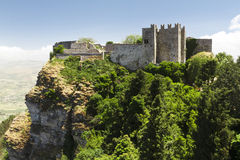 Erice castle Royalty Free Stock Photo