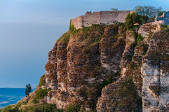 Erice castle Royalty Free Stock Images