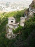 Erice - The Torretta Pepoli. Castle in old historic Sicilian town Stock Image