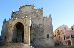 Erice cathedral. Cathedral of Erice, in Sicily Royalty Free Stock Image