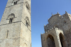Erice cathedral Royalty Free Stock Images