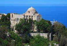 Erice - chiesa della st Giovanni (Sicilia) Fotografie Stock