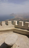 Erice and coast of Sicily Royalty Free Stock Images