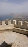 Erice et côte de la Sicile Images libres de droits