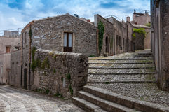 Erice historic city Stock Image