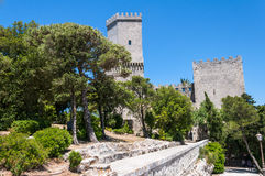 Erice italic city in Sicily island Stock Photo