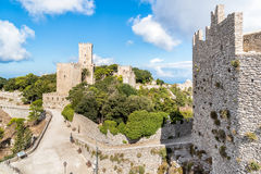 Erice medieval town, Sicily, Italy Royalty Free Stock Photos