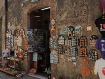 Typical shop in Erice Royalty Free Stock Images