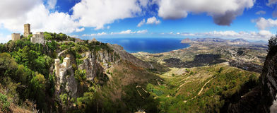 Erice panoramic view Royalty Free Stock Photo