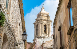 Erice in the province of Trapani, Sicily Stock Photos