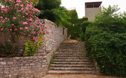 Erice staircase Stock Photo