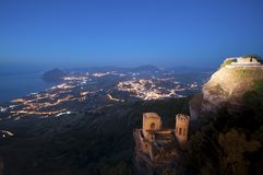 Erice, Trapani em Sicília fotos de stock royalty free