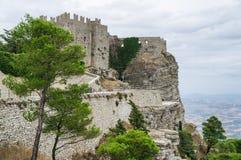 Erice Trapani. Sicilien Italien. Royaltyfria Foton