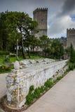 Erice Trapani, Sicilien, Italien - forntida stenVenus slott Royaltyfri Foto