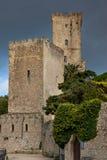 Erice Trapani, Sicilien, Italien - forntida stenVenus slott Royaltyfri Fotografi