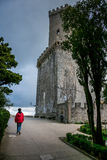 Erice Trapani, Sicilien, Italien - forntida stenVenus slott Arkivbild