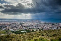 Erice Trapani, Sicilien, Italien - panoramautsikt Arkivfoton