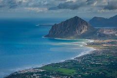 Erice Trapani, Sicilien, Italien - panoramautsikt Arkivbild