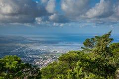 Erice Trapani, Sicilien, Italien - panoramautsikt Arkivfoto