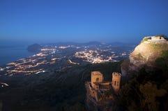 Erice, Trapani w Sicily Zdjęcia Royalty Free