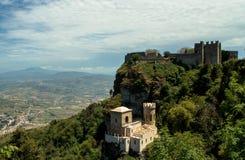 Erice - Venus Castle Stock Foto