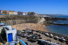 Ericeira fishing port. View from a belvedere over Ericeira fishing port - Portugal Royalty Free Stock Photo