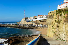 Ericeira harbor on the coast of Portugal Royalty Free Stock Photos