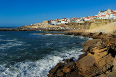 Ericeira harbor on the coast of Portugal Royalty Free Stock Image