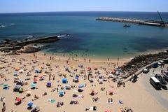 Ericeira strand Fotografering för Bildbyråer