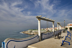 Ericeira Village. Perspective of Ericeira village in Portugal Stock Photo
