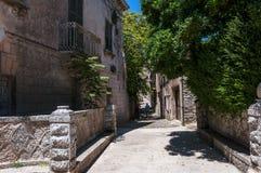 Eriche historic italic city Stock Photography