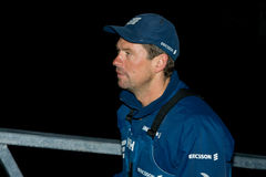 Ericsson 4,crew member. Ericsson-4 crew member just arrived to Galway,Volvo Ocean Race,Galway Stopover Stock Photo