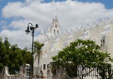Erida Mexico Yucatan architecture history street church Royalty Free Stock Images